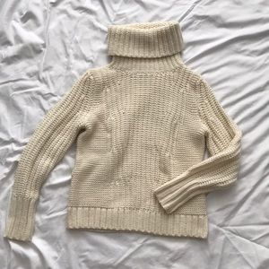 Banana Republic cream turtleneck sweater